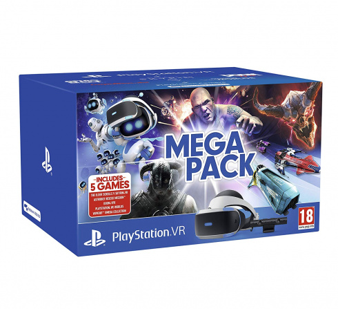 PS4: Sony PlayStation VR (РСТ) + Камера V2 + 5 ИГР MEGA PACK (CUH-ZVR2EW)