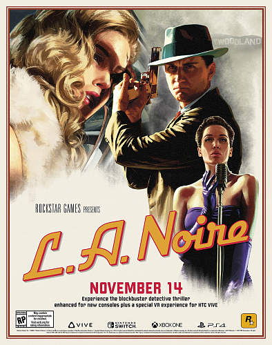 L.A. Noire почтит своим появлением PS4, Xbox One, Switch и HTC Vive